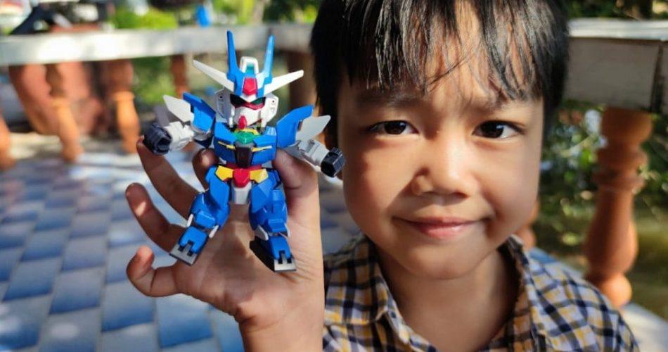 กันพลาตัวแรกของเด็ก 6 ขวบ SDCS Earthree Gundam